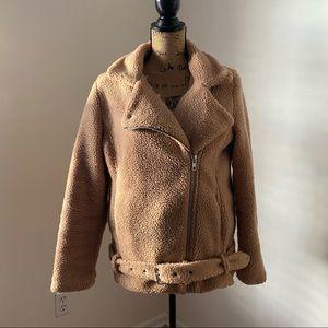 Tan Teddy Jacket Size Small